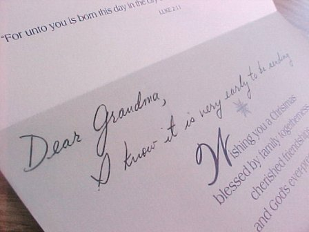 Christmas Card To Grandma