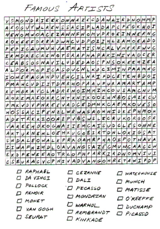 Large print circle word puzzles printable Mike Folkerth - King of ...