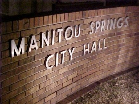 Manitou Springs City Hall Sign