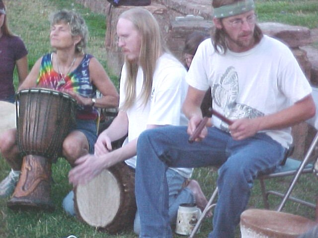 Drum Circle In Manitou Springs Colorado In Memorial Park