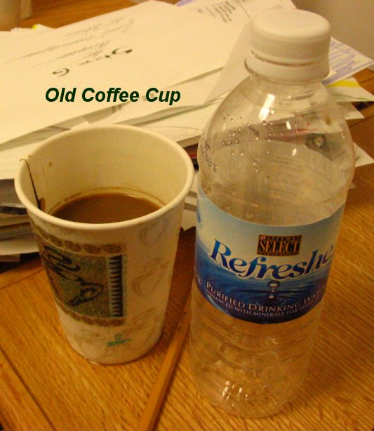 "Messy Cups Plates: Drinking Cups, Dirty Plates And ""Old Coffee"" Dominate"