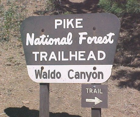 Waldo Canyon Trailhead